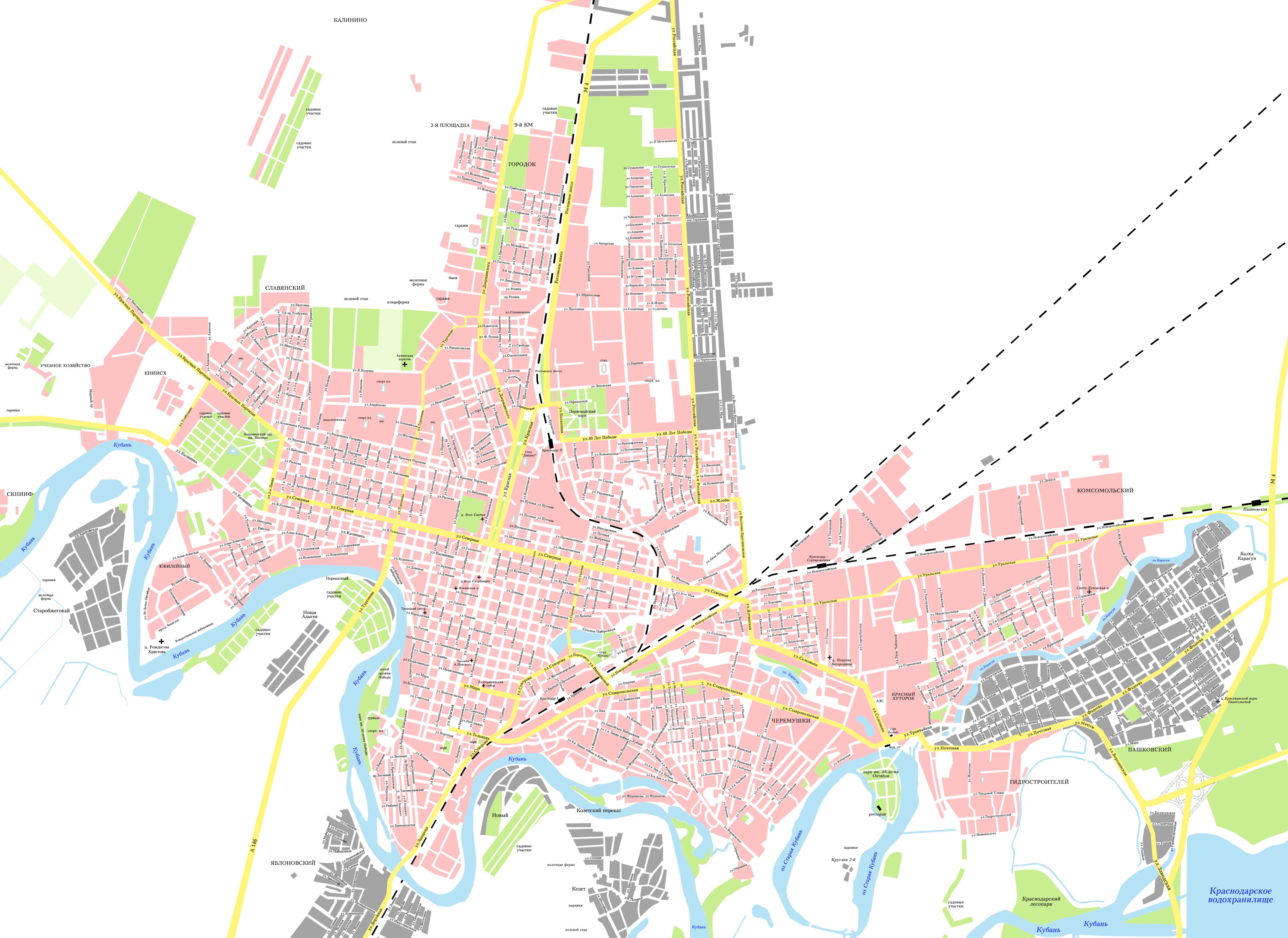 Карта краснодара скачать