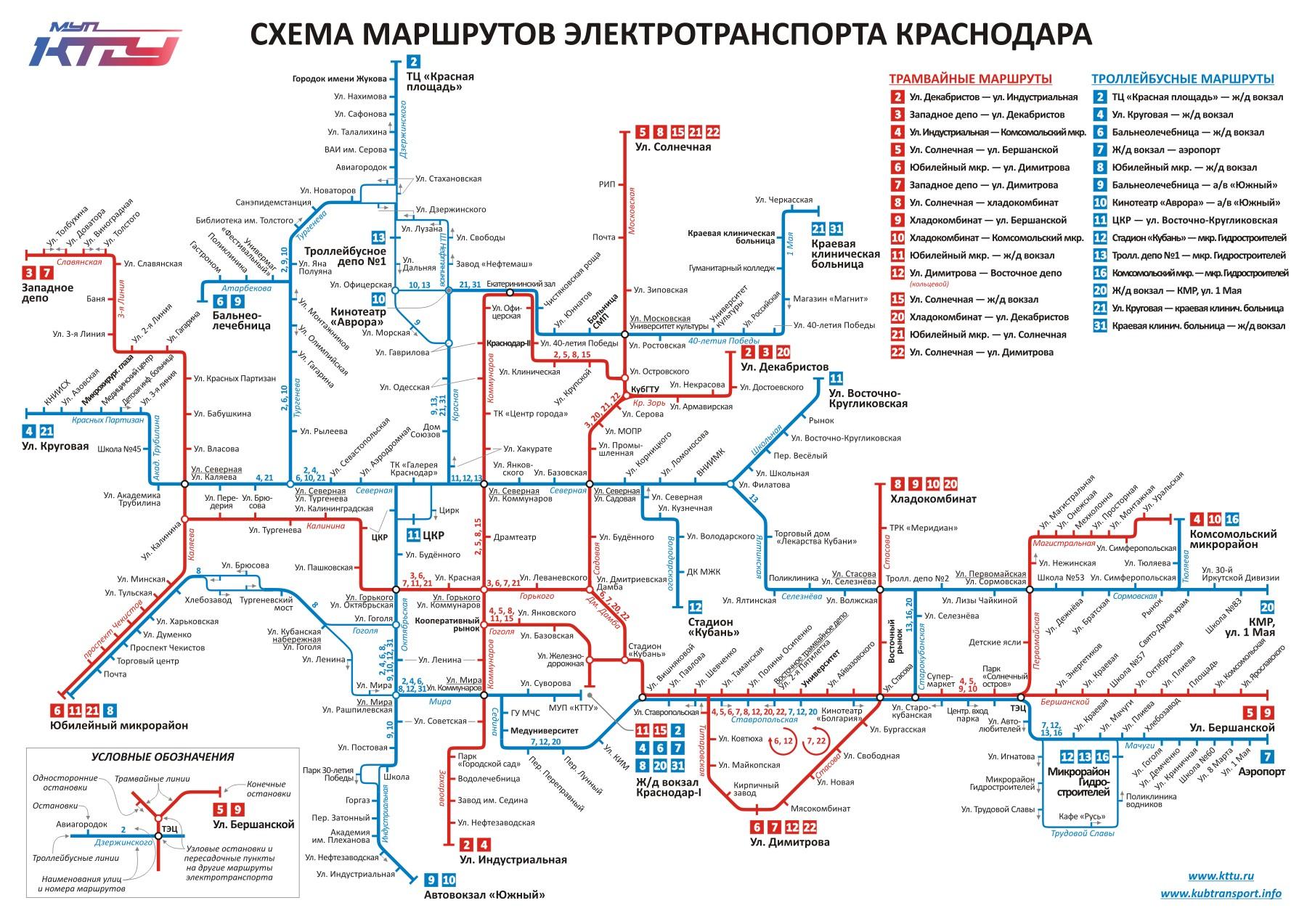 Схема движения общественного транспорта курск